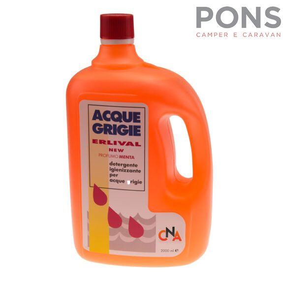 Detergente e sanificante per acque grigie Mod Erlival 2 Lt.